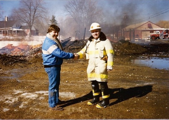 1987 control burn expanded parking lot, Michael Provost and Fire Chief Tideo Beaulieu